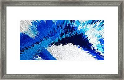 Color Shock 2 - Vibrant Digital Painting Art Framed Print by Sharon Cummings