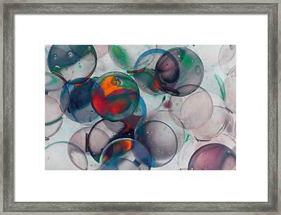 Color Spheres Framed Print by Dennis James