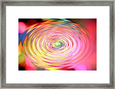 Color Spin Framed Print by Les Cunliffe