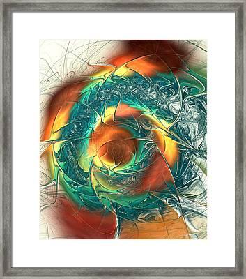 Color Spiral Framed Print