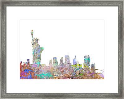 Color Splash New York Framed Print