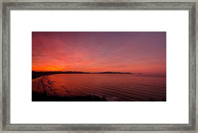 Color Spray Bay Framed Print by Aaron Bedell