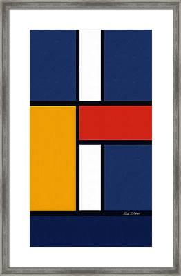 Color Squares - Mondrian Inspired Framed Print by Enzie Shahmiri