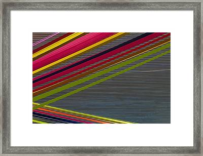 Framed Print featuring the photograph Color Strips by Stuart Litoff