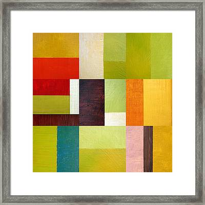 Color Study Abstract 10.0 Framed Print by Michelle Calkins