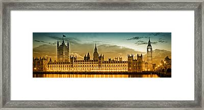Color Study London Houses Of Parliament Framed Print