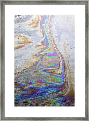 Framed Print featuring the photograph Color Swirl by Geraldine Alexander