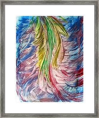 Color Tassels Framed Print by Alexandra Jordankova