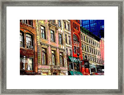 Color The City New York Framed Print by Thomas Fouch