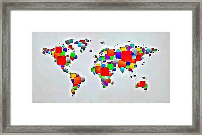 Color The World Framed Print by Florian Rodarte