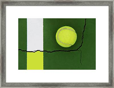 Color Transfer Across The Fault Line Framed Print