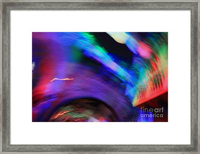 Framed Print featuring the pyrography Color Tunnel  by Chris Thomas