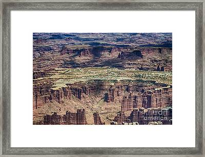 Color Variety At Canyon Lands Framed Print