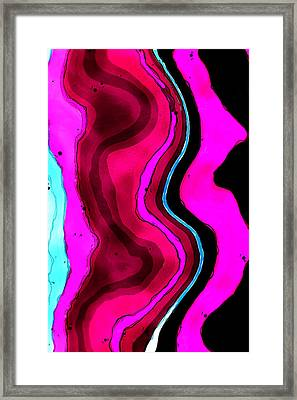 Color Veins Framed Print by David G Paul