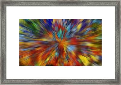 Color Warp Framed Print by Dan Sproul