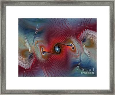 Color Wave-fractal Design Framed Print by Karin Kuhlmann