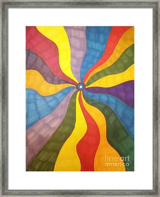 Color Wave Framed Print by Janet Berch