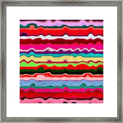 Color Waves No. 1 Framed Print