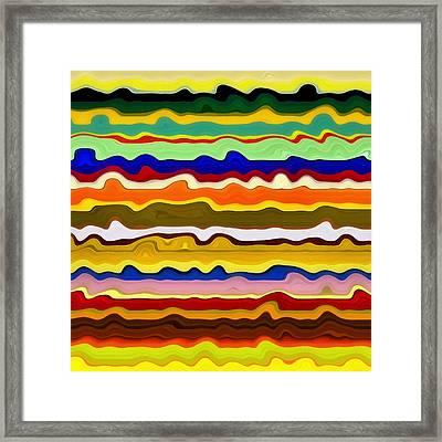 Color Waves No. 2 Framed Print by Michelle Calkins