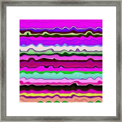 Color Waves No. 3 Framed Print