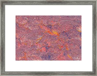 Color Waves Framed Print by Olivia  M Dickerson