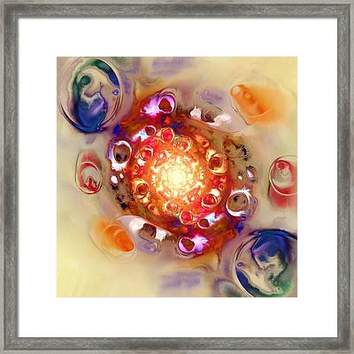 Color Wheel Framed Print by Anastasiya Malakhova