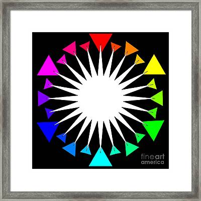 Color Wheel Burst Framed Print