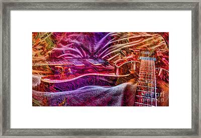 Color Wheel Digital Guitar Art By Steven Langston Framed Print by Steven Lebron Langston