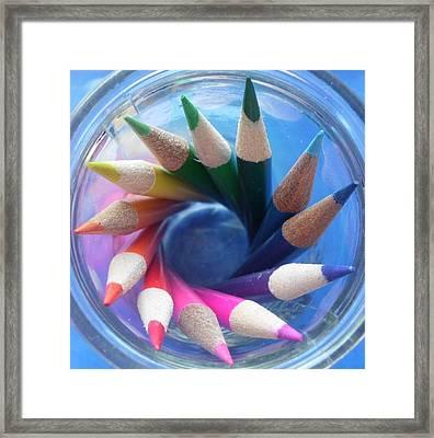 Color Wheel Framed Print by Elizabeth Sullivan