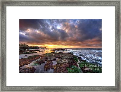 Color Within The Clouds Framed Print by Eddie Yerkish