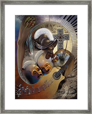 Color Y Cultura Framed Print by Ricardo Chavez-Mendez