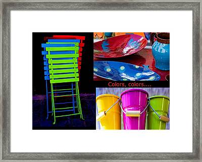 Color Your Life 1 Framed Print by Dany Lison