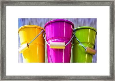 Pots Trio Framed Print