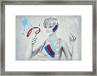 Color Your Life Framed Print by Jutta Maria Pusl