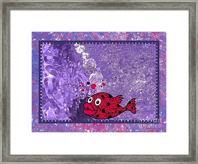 Color Your World Kids Bath Fish Framed Print by Margaret Newcomb