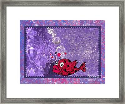 Color Your World Kids Bath Fish Framed Print
