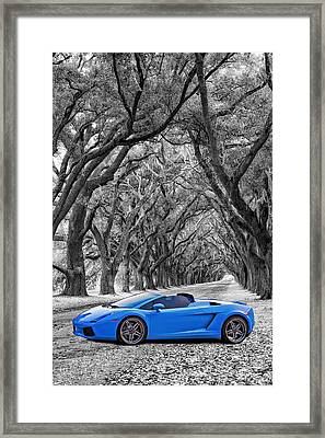 Color Your World - Lamborghini Gallardo Framed Print