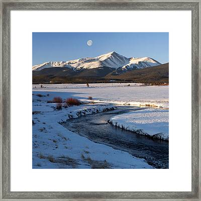 Colorado 14er Mt. Elbert Framed Print by Aaron Spong
