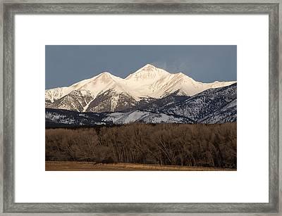 Colorado 14er Mt. Yale Framed Print by Aaron Spong