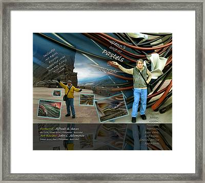 Framed Print featuring the pastel Colorado Art Book Cover by Glenn Bautista