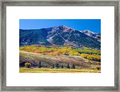 Colorado Autumn Air Framed Print
