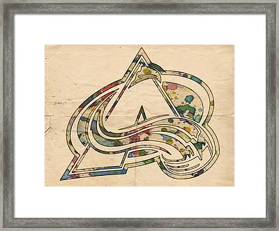 Colorado Avalanche Poster Art Framed Print