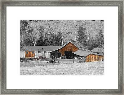 Colorado Barn Boulder County   Framed Print by James BO  Insogna