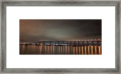 Coronado Bridge San Diego Framed Print