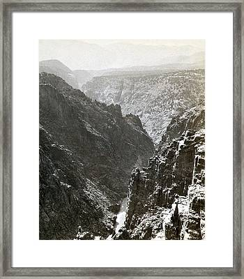 Colorado Canyon, C1876 Framed Print by Granger