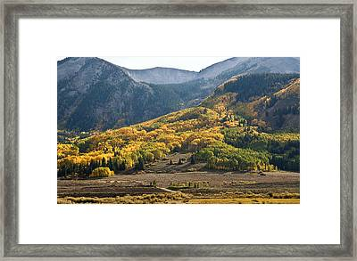 Framed Print featuring the photograph Colorado Changing Eleven   by Eric Rundle