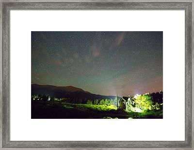 Colorado Chapel On The Rock Dreamy Night Sky Framed Print