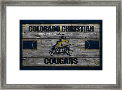 Colorado Christian Cougars Framed Print by Joe Hamilton