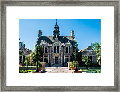 Colorado College Cutler Hall Framed Print by Ray Sheley