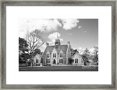 Colorado College Cutler Hall Side View Framed Print by University Icons